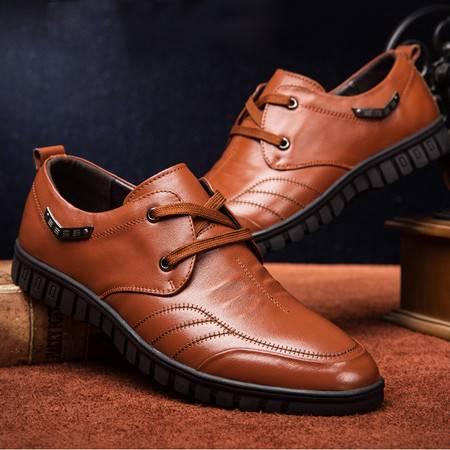 小童马 新款男士皮鞋 头层牛皮男鞋真皮商务休闲皮鞋男   3380