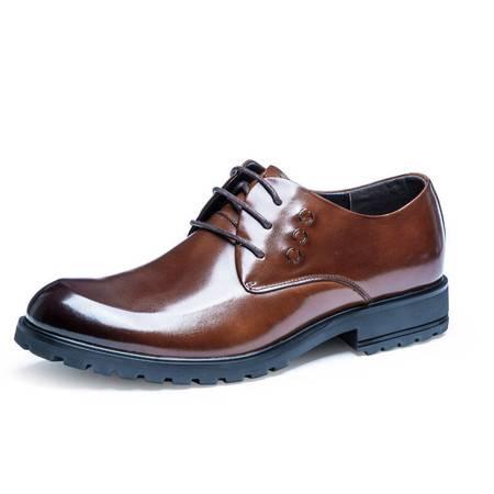 小童马 男士休闲鞋真皮平跟男鞋 系带商务休闲鞋新款 头层牛皮 DS0017