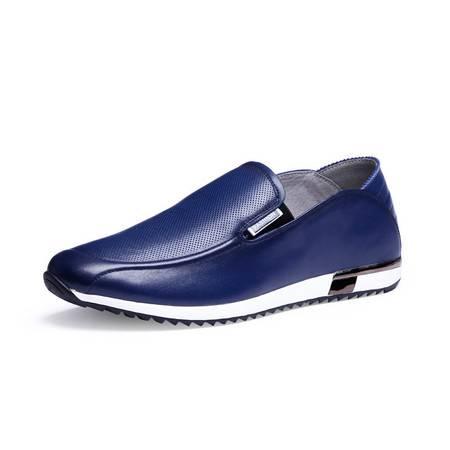 小童马 男士休闲皮鞋 透气真皮套脚鞋 意大利进口头层牛皮 DS0022