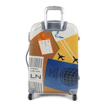 小童马  行李箱小飞机印花拉杆旅行箱包abs拉杆箱万向轮登机箱 313
