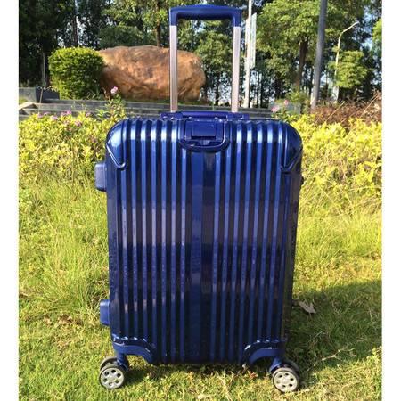 小童马 海关锁铝框拉杆箱万向轮PC铆钉行李箱24寸密码登机箱24寸旅行箱潮    6008