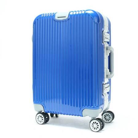 小童马 TSA海关锁铝框拉杆箱万向轮镜面旅行箱20 24寸行李箱包登机箱   2221