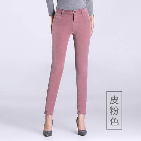 施悦名 冬季新款加绒加厚灯芯绒长裤休闲百搭修身显瘦保暖舒适弹力女裤