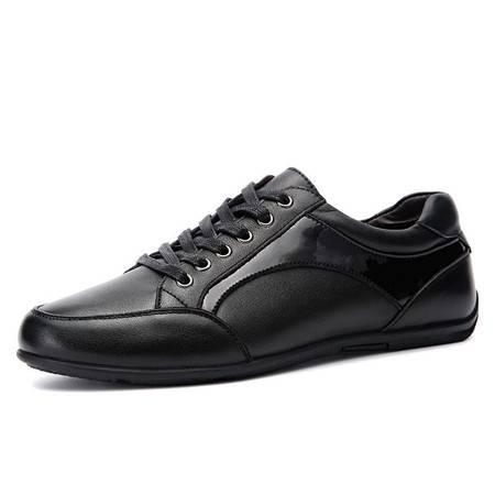 小童马 鞋子男鞋真皮商务休闲皮鞋秋季男式正装鞋头层牛皮男士低帮鞋男 H8801