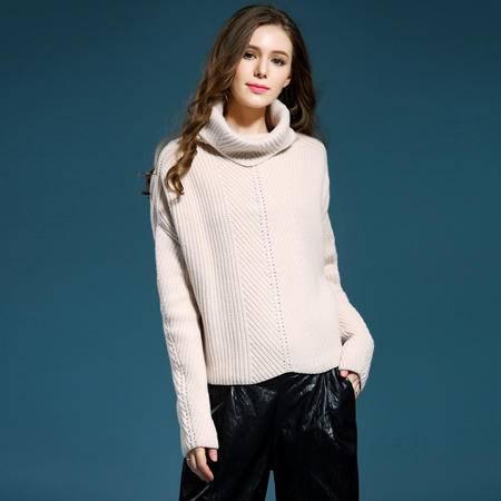 施悦名 欧美2016秋冬装女式毛衣高领厚款打底衫羊毛套头针织衫