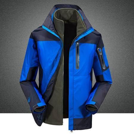 汤河之家 2016秋冬新款男式冲锋衣男两件套男式三合一户外服登山服 SWL60806