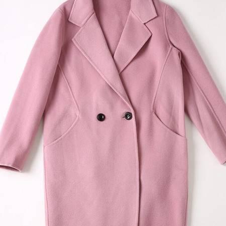 施悦名 欧洲站2016秋冬新款女装中长纯手工双面呢羊绒大衣毛呢外套
