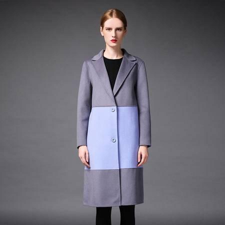 施悦名 2016新款秋冬手工双面羊绒羊毛长款大衣欧美