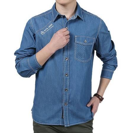 汤河之家 纯色男士商务衬衫 时尚休闲潮流衬衫男   8620