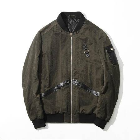 汤河之家 2016秋冬男装新款夹克外套 立领修身英伦风男式夹克衫 RZ-J8811