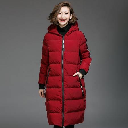 施悦名 加肥加大码女装2016冬装胖MM个性字母印花保暖棉服