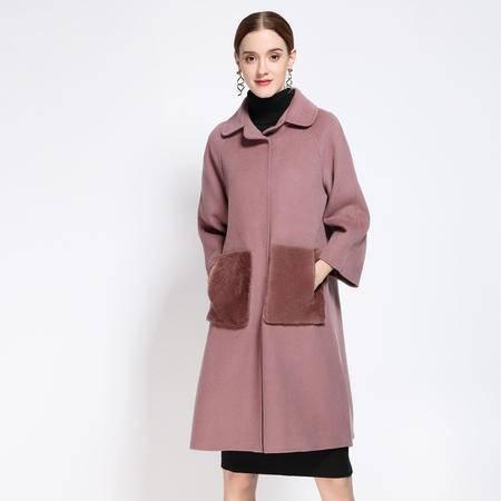 施悦名 欧洲站2016冬季新款羊毛毛呢大衣长袖外套 欧美官网明星同款女装