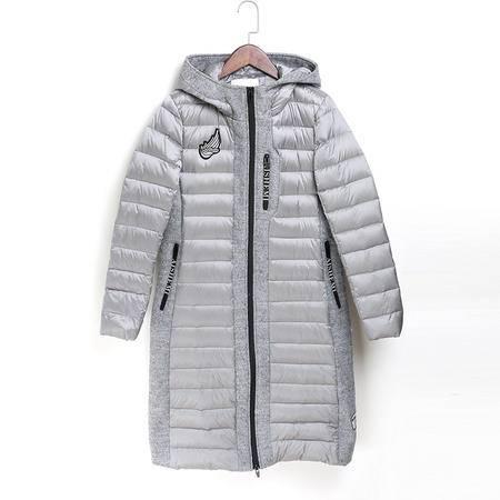 施悦名 2016秋冬新款鸭绒女式羽绒服连帽欧洲站女装保暖外套