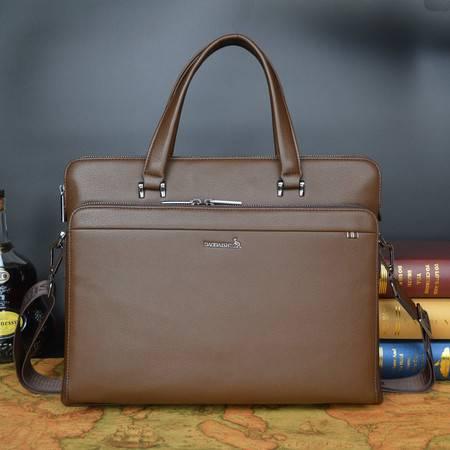 小童马 头层牛皮精品男士包包 单肩斜挎包 手提 休闲 真皮包袋   6002-1
