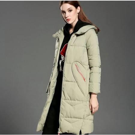 施悦名 冬季新款 欧美时尚 个性修身轻薄羽绒服外套