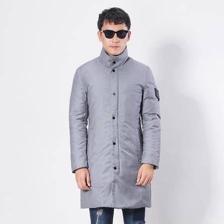 汤河之家 2016冬季新款羽绒服男中长款白鸭绒修身加厚休闲男士冬装   8720