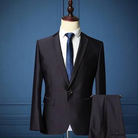 汤河之家 秋冬男士新款西装韩版修身西服套装男式商务正装新郎结婚礼服 DL-188