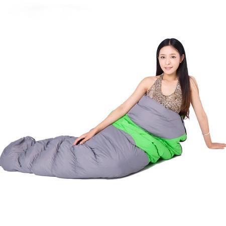 洋湖轩榭 户外B款低温保暖羽绒睡袋 鸭绒保暖 秋冬款 冬季睡袋
