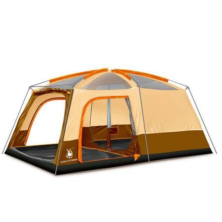 洋湖轩榭 双层防雨户外露营用品两室一厅家庭多人帐篷