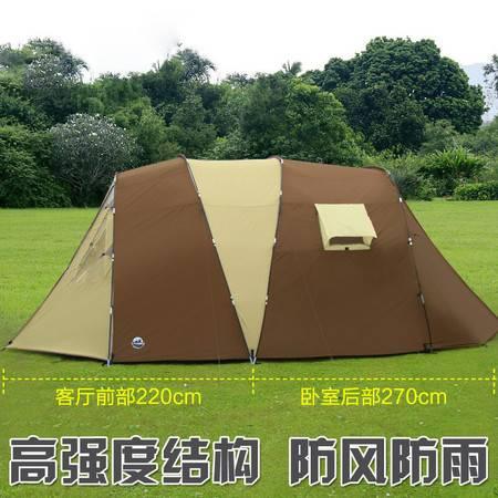洋湖轩榭  户外 两室一厅多人家庭双层防暴雨露营野营帐篷