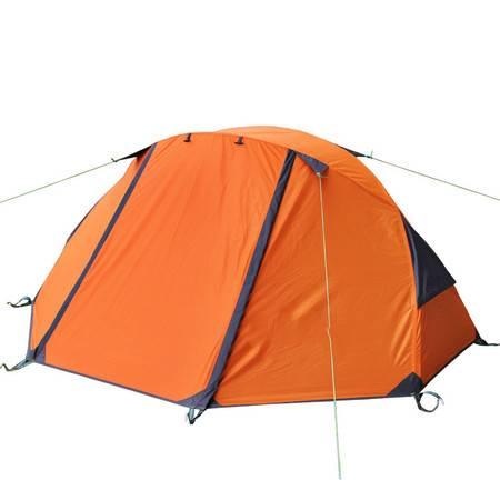 洋湖轩榭 单人双层防雨野营帐篷玻杆户外用品限量露营装备