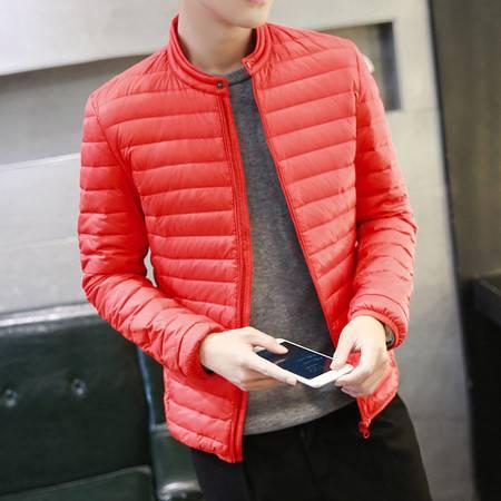 汤河之家 轻薄立领羽绒服男 2016冬季纯色保暖白鸭绒外套 韩版修身男士外套 RZ-Y16002