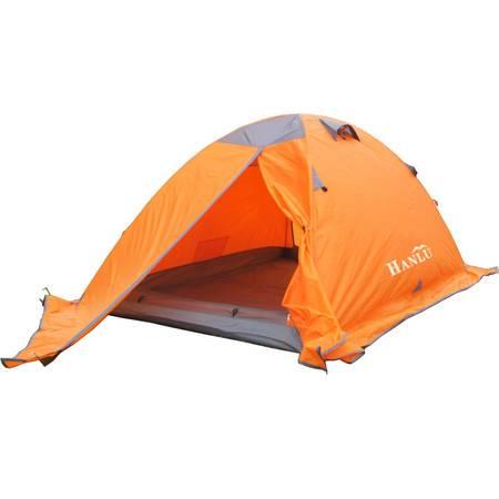 洋湖轩榭  户外野营露营 双人双层 铝杆自动帐篷tent雪地帐篷带裙边