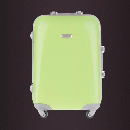 小童马 铝框箱 拼色硬箱abs旅行箱万向轮耐磨拉杆箱 20寸男女可用行李箱   PL-01