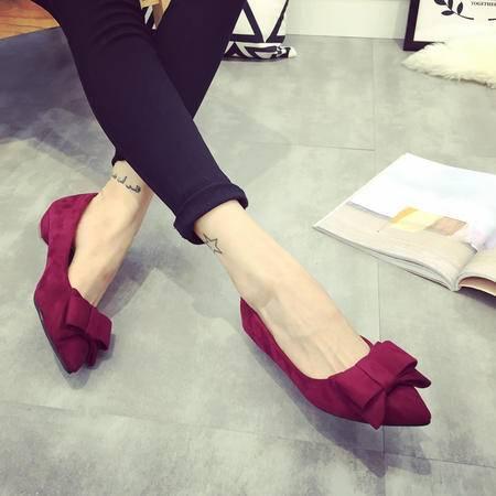 春季新品热卖女单鞋高跟鞋时尚百搭款蝴蝶结装饰时尚小尖头设计甜美系