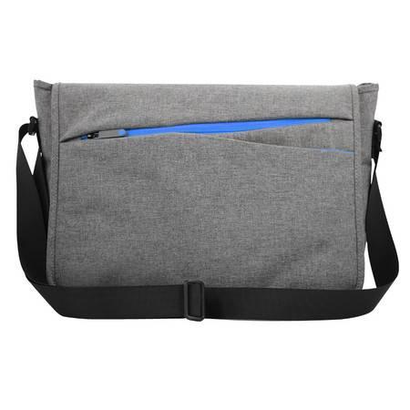 宜适酷 手提电脑包商务时尚单肩包斜挎包多功能笔记本电脑包 插扣邮差包13.3英寸