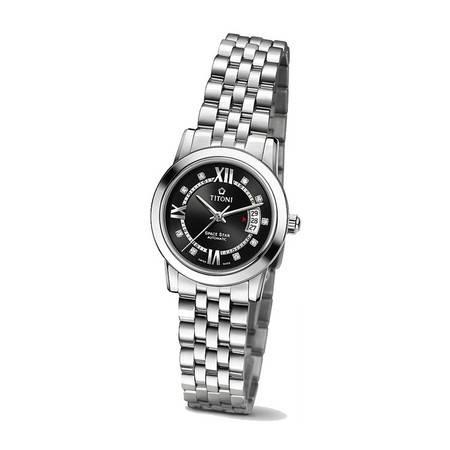 梅花 (Titoni)星空机械手表 钢带女表23738 S-363 [黑色]