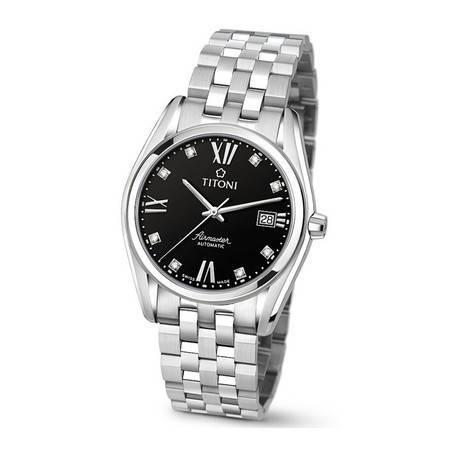 梅花 手表(TITONI) 空霸自动机械手表 钢带男表83909S-354 83909 S-354