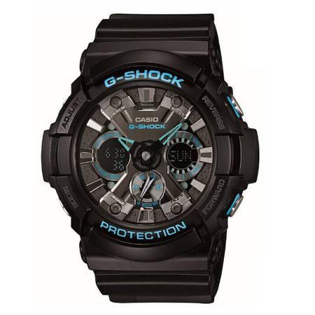 卡西欧手表 GA-201BA-1A 自豪之蓝防水防震多功能时尚运动男士手表