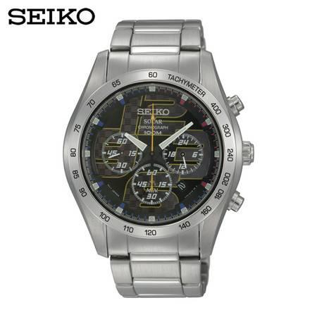 【分期零首付】SEIKO精工Solar太阳电能石英男表 商务休闲手表 SSC061J1
