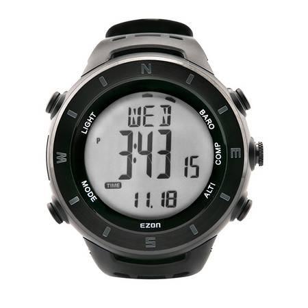 EZON宜准户外运动手表多功能海拔温度高度计指南针登山表H011F11