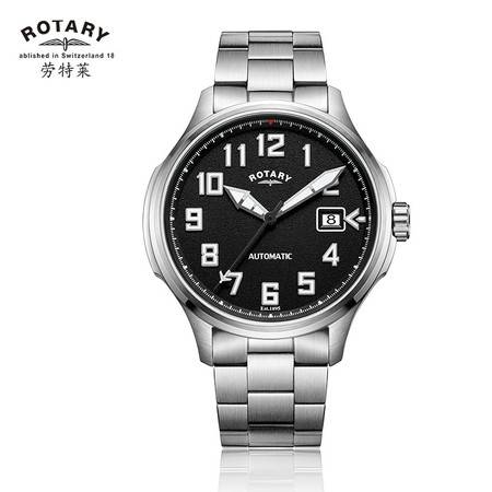 ROTARY劳特莱自动机械钢带男士夜光户外运动手表GB80008-19