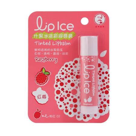 曼秀雷敦什果冰淡彩润唇膏3.5g (红莓、野莓、草莓)三色可选