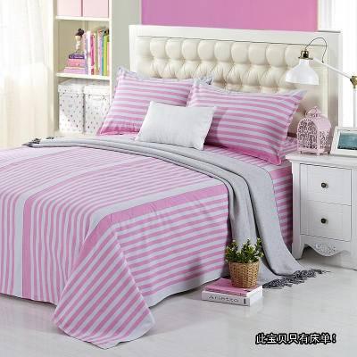 佳卉纯棉老粗布床单单件 全棉被单1.5米床单双人学生床单1.5*2.2