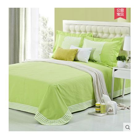 佳卉家纺 床单三件套纯棉公主风 纯色全棉床单3件套春夏季新品1.5米床