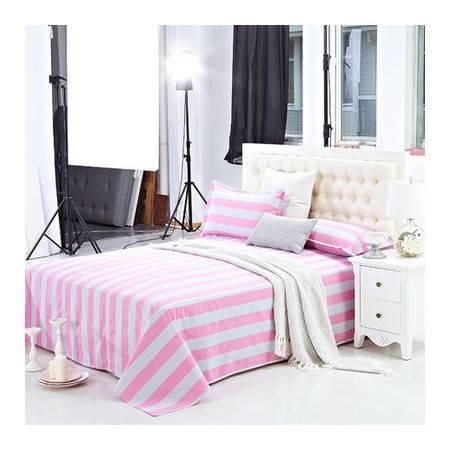 佳卉 纯棉老粗布床单三件套 床单枕套 全棉双人1.2床