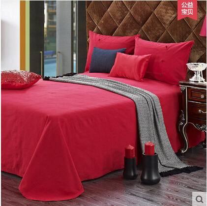 佳卉高档手工家纺床品 床单三件套 纯棉全棉老粗布床品 钉扣系列1.5米床