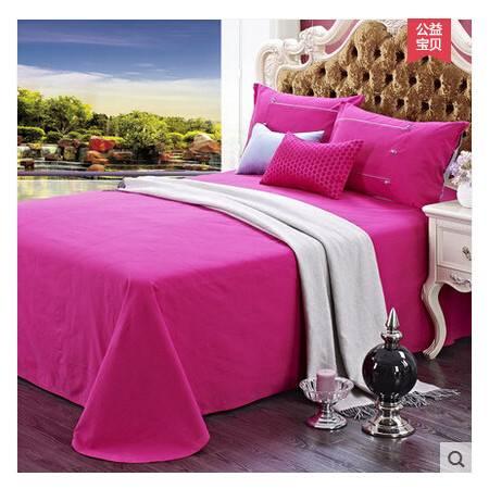 佳卉家纺手工老粗布床单三件套 纯棉全棉床上用品 钉扣系列1.2米床