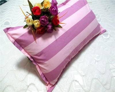 佳卉老粗布信封枕头套 纯棉全棉单人枕套一对 第二对优惠5元花色随机发货