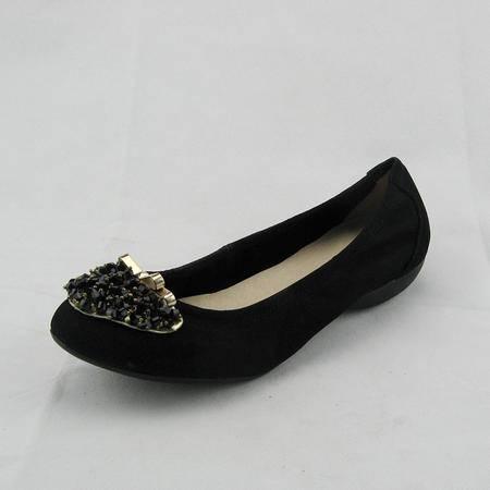 达芙妮夏秋款女单鞋浅口串珠显瘦甜美休闲韩版真皮女鞋1013404103