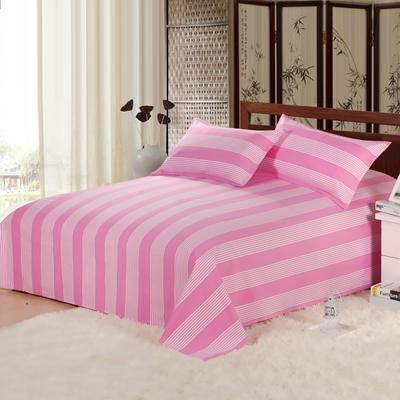 佳卉纯棉老粗布床单单件 全棉被单家庭1.8米床2.0米床品单双人学生床单