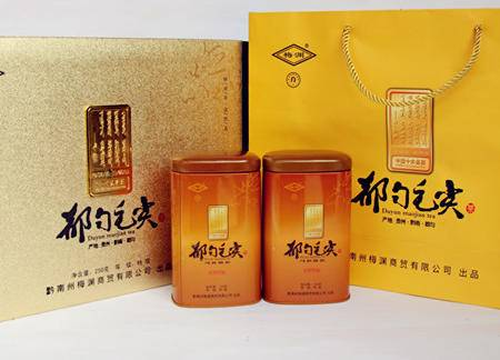品质保证营养健康有机绿茶黄色礼盒250g装都匀毛尖茶
