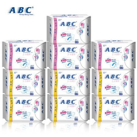 ABC卫生巾棉柔纤薄卫生巾日用6包240mm夜用4包280mm组合套装共10包包邮
