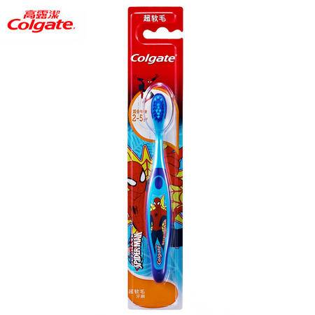 高露洁牙刷蜘蛛侠芭比儿童牙刷1支适合2-5岁儿童 超软毛