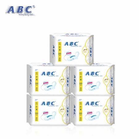 ABC k11卫生巾日用棉柔纤薄透气超吸促销组合套装40片 包邮