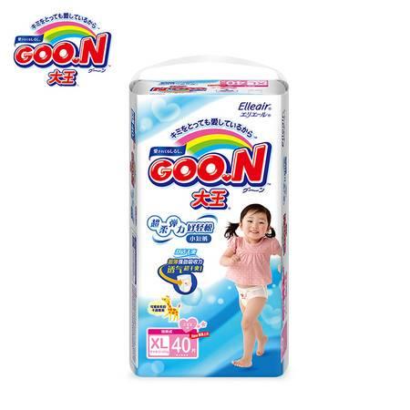GOO.N(大王)婴儿用短裤型纸尿裤女宝宝加大号XL40片(12-20kg)  包邮
